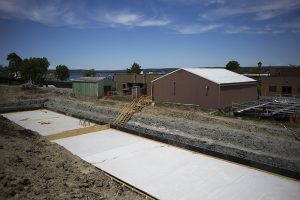 Progress continues on the construction at Chautauqua Utility District Sewage Treatment Plant. Photo by Eslah Attar.