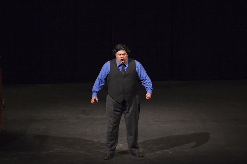 Benjamin Bloomfield performs during the Chautauqua Opera Company's introductory sing-in June 16, 2014.