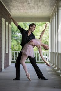 "Cara Hansvick and Michael Menghini will be dancing in the ballet ""Who Cares?"" with choreography by George Balanchine and taught by Patricia McBride. The Chautauqua Dance Student Gala will be at 2:30 p.m. on Sunday in the Amphitheater. Photo by Sarah Holm"