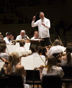 Greg Funka for the Daily Rossen Milanov, music director, conducts the Chautuauqua Symphony Orchestra in Igor Stravinsky's Petrushka.