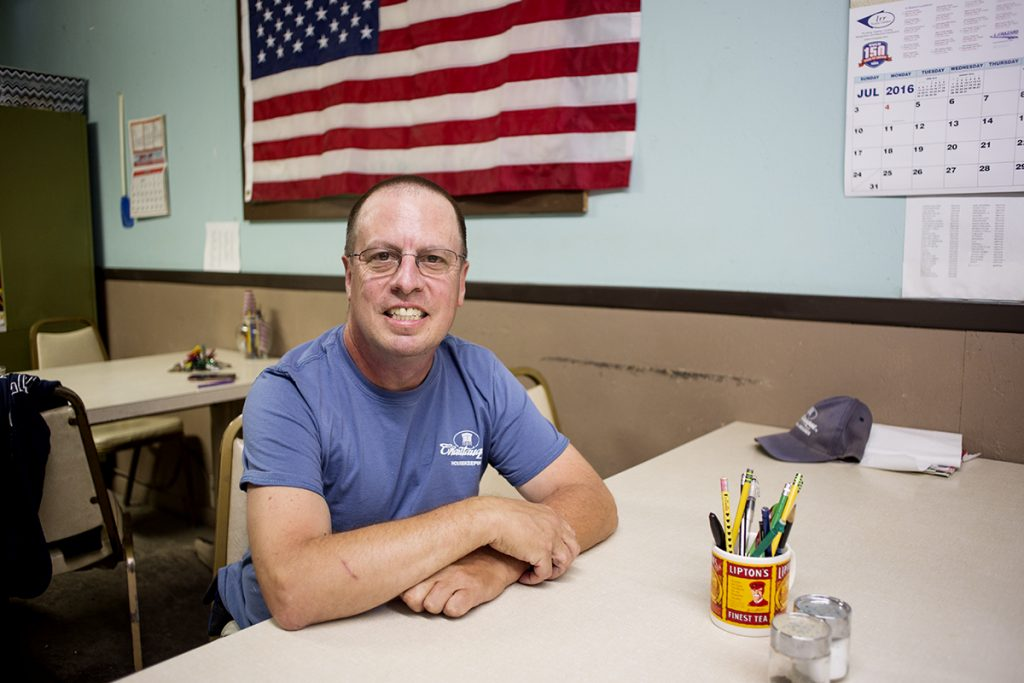 Jeff Edgar, who works in housekeeping, tends to homes year round. Photo by Eslah Attar