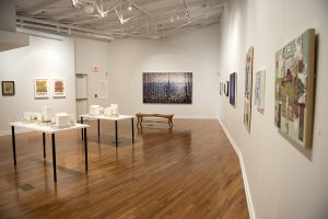 The Next Chapter: Works by Five Chautauqua School of Art Alumni exhibit is displayed in Gallo Family Gallery in Strohl Art Center. Photo by Sarah Holm