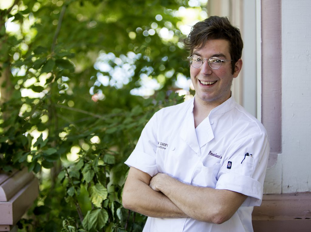 Ben Schopshire is the executive chef of the presidents cottage for the season. This is Schopshires first time in Chautauqua. Photo by Eslah Attar
