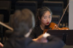 """Sunwoo Lee plays """"Quartet in C minor"""" by Gabriel Fauré during the Chautauqua Institution Music Festival Student Recital on Wednesday, July 20, 2016, at McKnight Hall. Photo by: Mike Clark"""