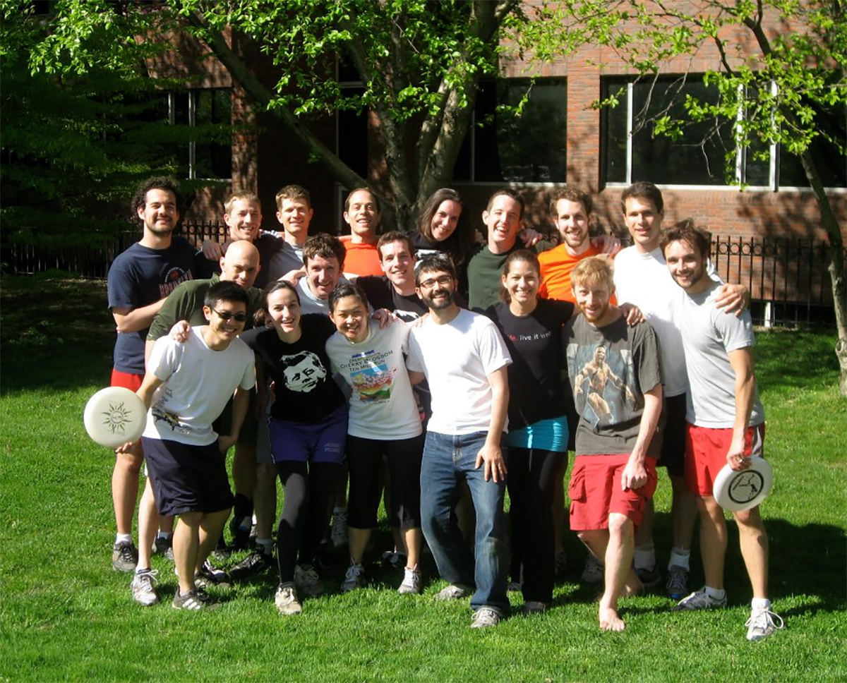 "submitted Photo Franciso ""Pancho"" Marquez (far left, back row) and Tim Marlowe, (sixth from left, back row), met at Harvard Kennedy School, where they played on the ultimate frisbee team. Marquez is currently a political prisoner in Venezuela. Marlowe's mother-in-law, Chautauquan Nancy Schrader, is advocating for Marquez's release."