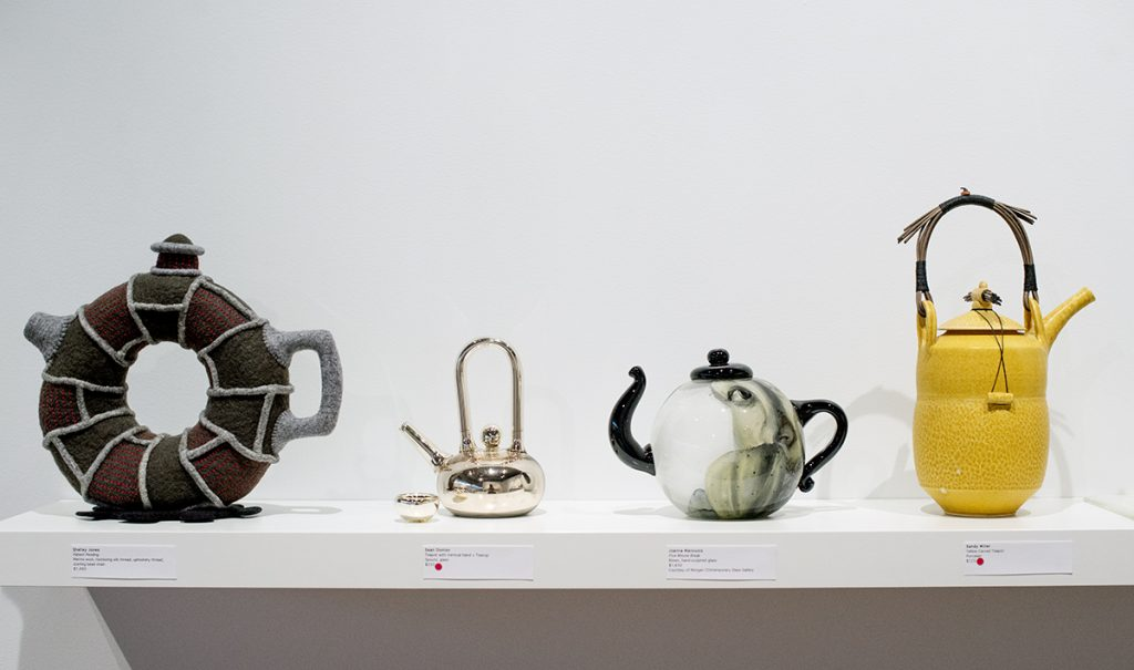 """The Path to Heaven Passes Through a Teapot"" is on display through Aug. 22 at Strohl Art Center."
