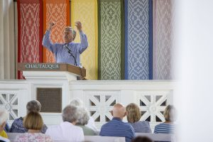 Rev. Thomas Long speaks to Chautauquans August 7, 2016 in the Hall of Philosophy. Photo By Eslah Attar