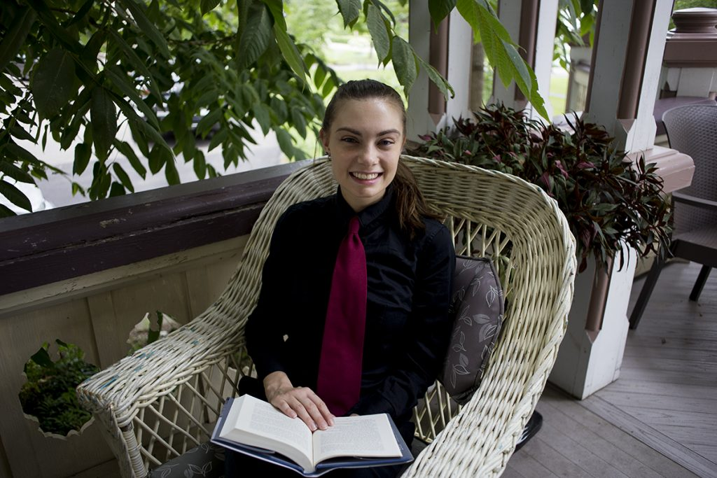 Nicole Roggie is an employee working at the Athenaeum Hotel for the season. Photo by Eslah Attar