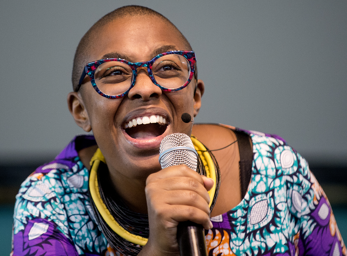 Grammy-winning jazz vocalist Cécile McLorin Salvant performs Wednesday, Aug. 24, 2016 on the Amphitheater stage.