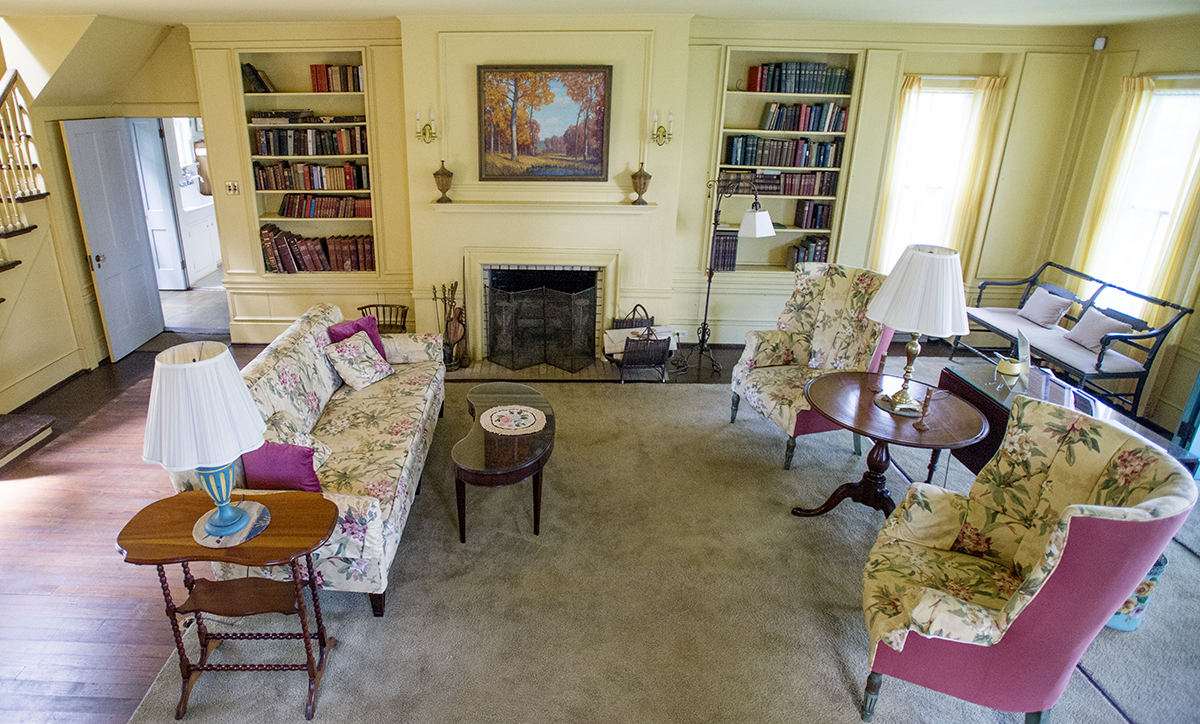 The living room of Miller Cottage is pictured Aug 18, 2016.