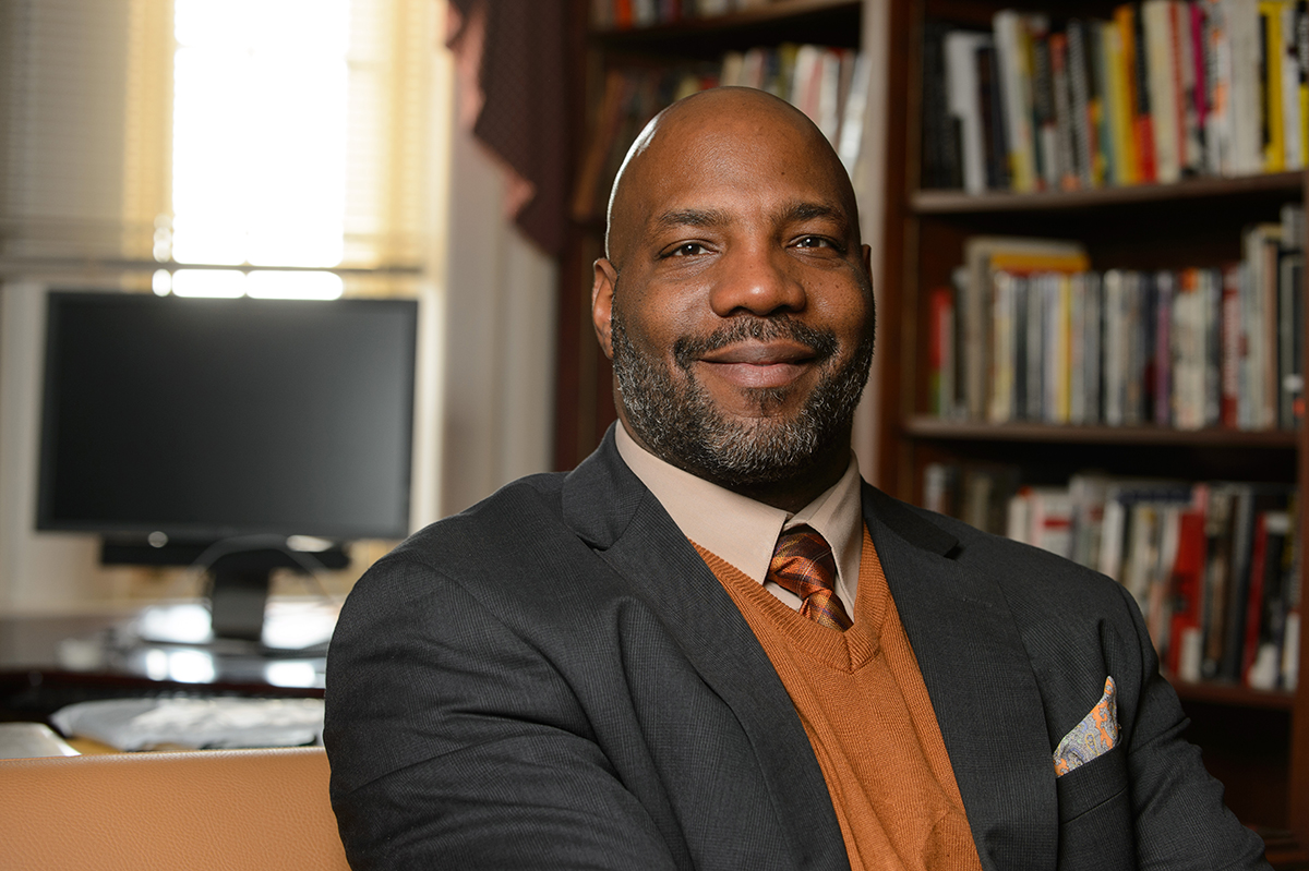William Jelani Cobb on Feb. 13, 2013. (Peter Morenus/UConn Photo)
