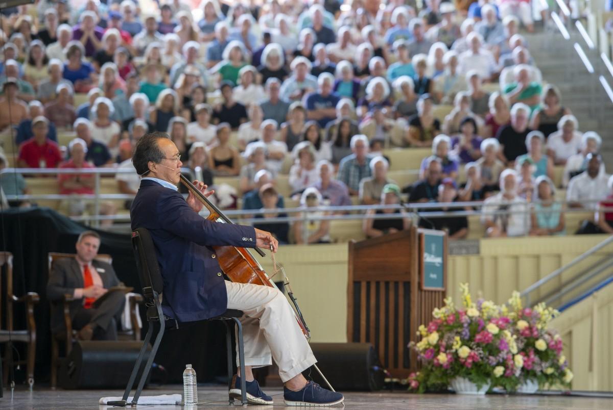 Cellist Yo-Yo Ma calls on culture as building block for stronger