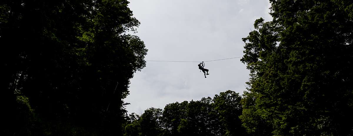 ZIP LINING JULY 21, 2016. PHOTO BY ESLAH ATTAR