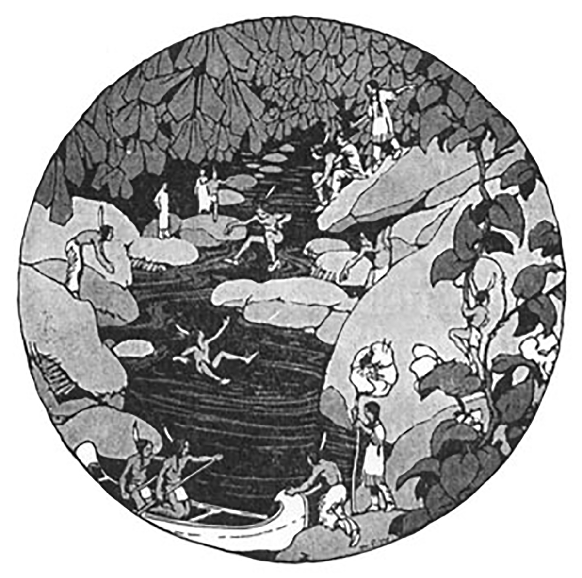 Iroquois fairies from Stories the Iroquois Tell Their Children by Mabel Powers