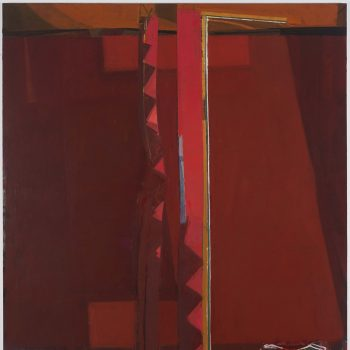 """open borders"" 2017 oil on linen 66 x 60 in by Sangram Majumdar"