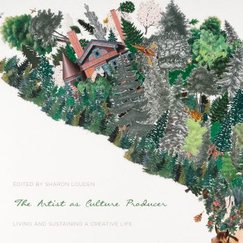 Book cover- -The Artist as Culture Producer- edited by Sharon Louden