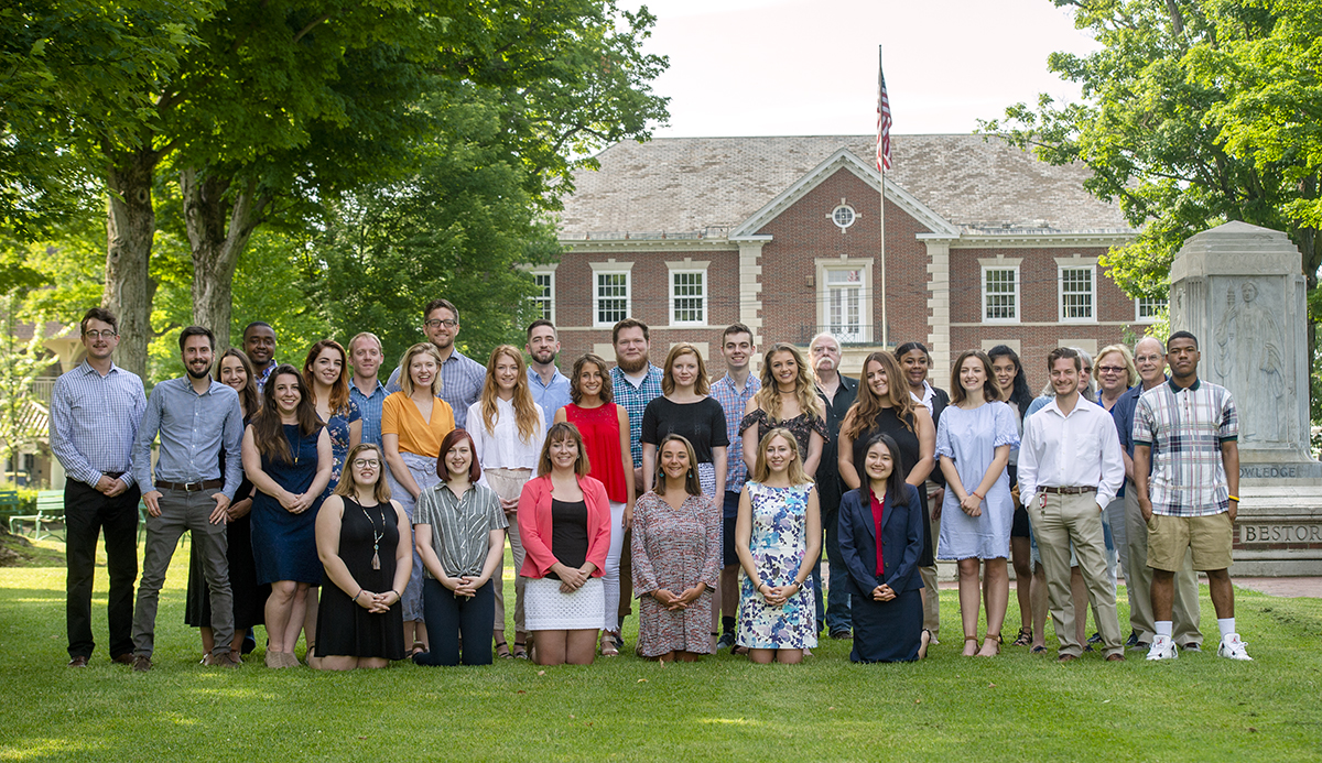 The 2018 Chautauquan Daily Staff. DAVE MUNCH/PHOTO EDITOR