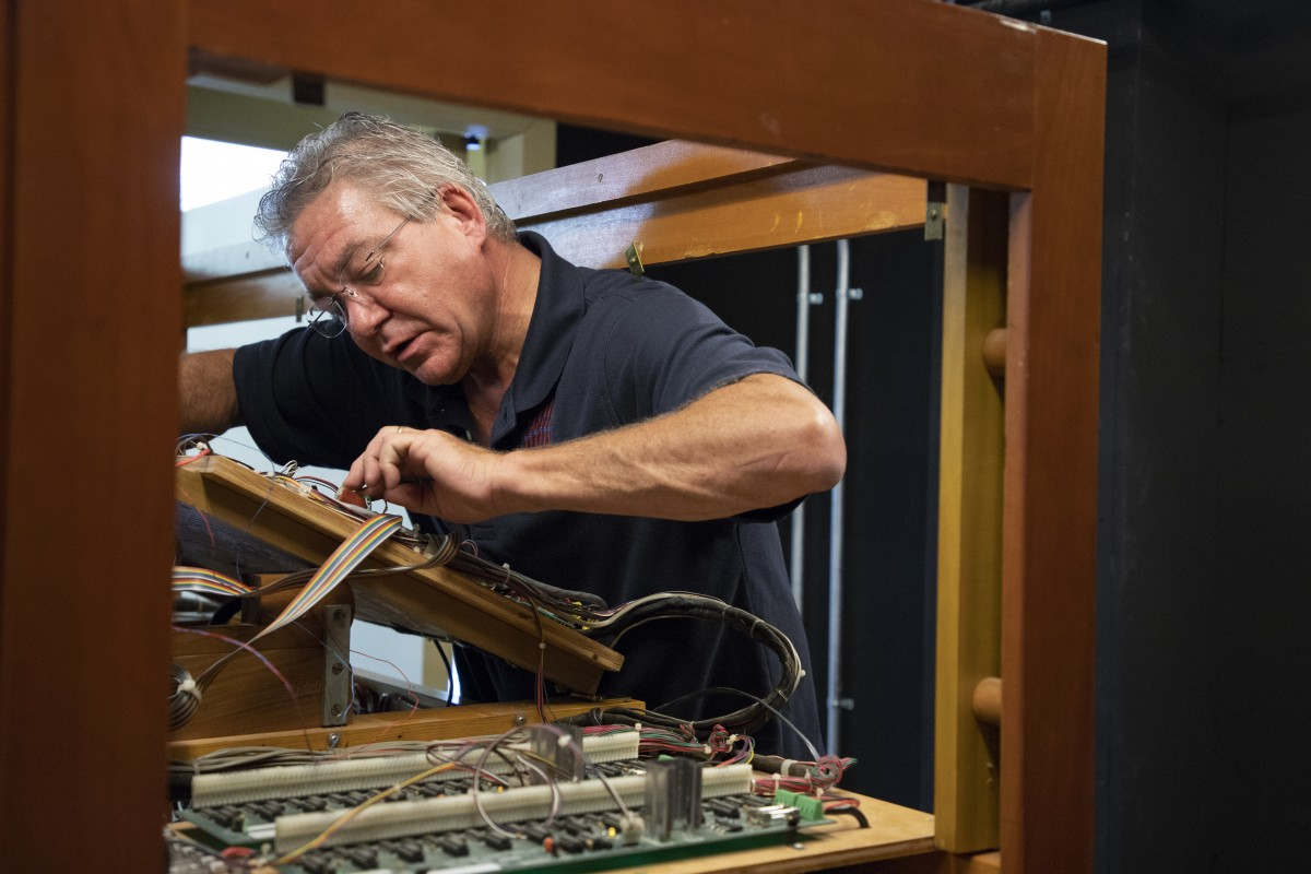 Video Archives The Chautauquan Daily Electrical Control Panel Wiring Building Robinson Mark Fischer Organ Builder Repairs Of Massey Memorial In Amphitheater Thursday June 21 2018 Riley Staff